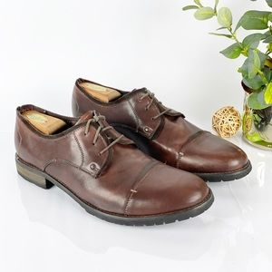 Bed Stu Volstead Oxford Cap Toe Brown Leather Shoe